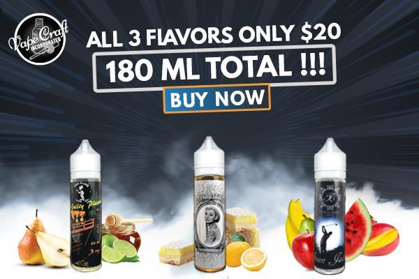 Vape Craft 180ml for only $20