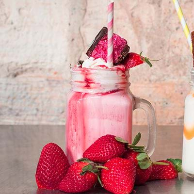 Strawberry Milkshake has milkshake