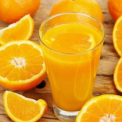 Orange Ice has orange juice