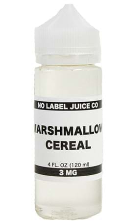 No Label Juice Co Marshmallow Cereal E-Juice Flavor