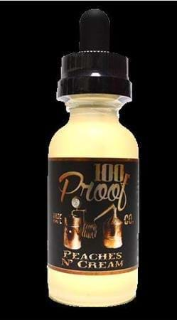100 Proof Vape Co Peaches n' Cream E-Juice Flavor