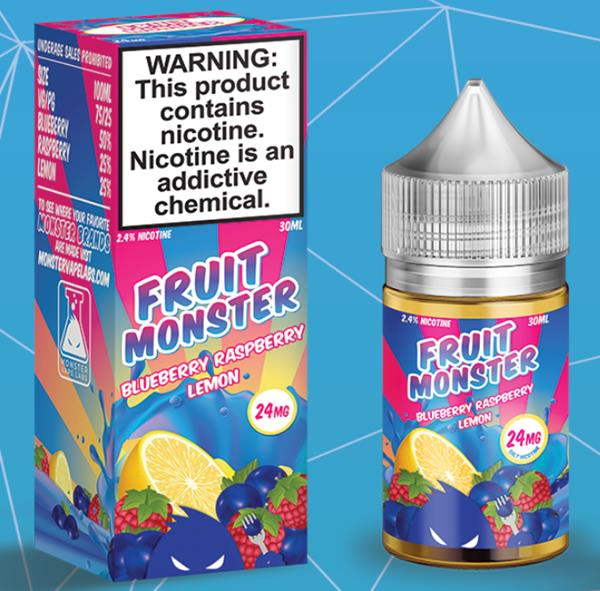 Fruit Monster Blueberry Raspberry Lemon Salt by Monster Vape Labs Nic Salts