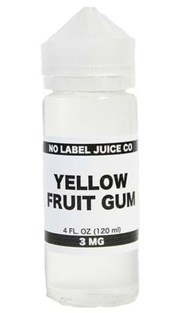 Yellow Fruit Gum by No Label Juice Co