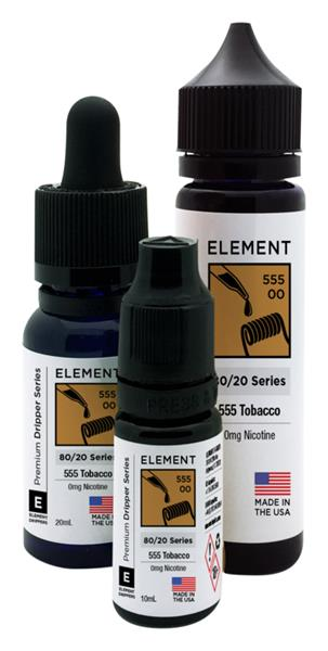 555 Tobacco by Element Dripper 80/20 Series