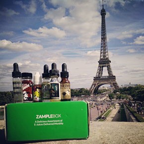 ZampleBox subscribers around the world: Paris, France
