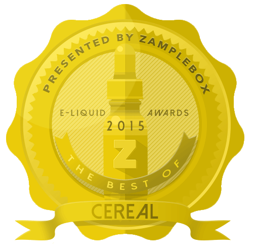 2015 E-liquid award best of cereal badge