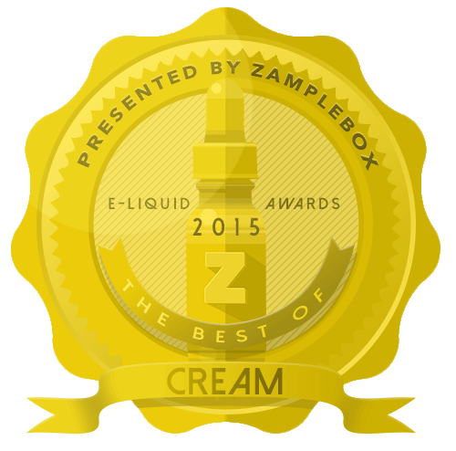 2015 E-liquid award best of cream badge