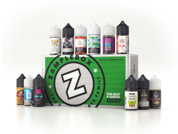 ZampleBox Vape Box Subscription 12 Bottle Box
