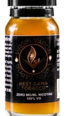 Virgin Vapor Best Damn Tobacco E-Juice Flavor